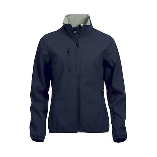 Clique Basic Dames Softshell jas - donkerblauw