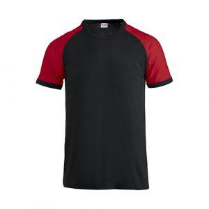 Clique_Raglan_Shirt_Zwart/rood