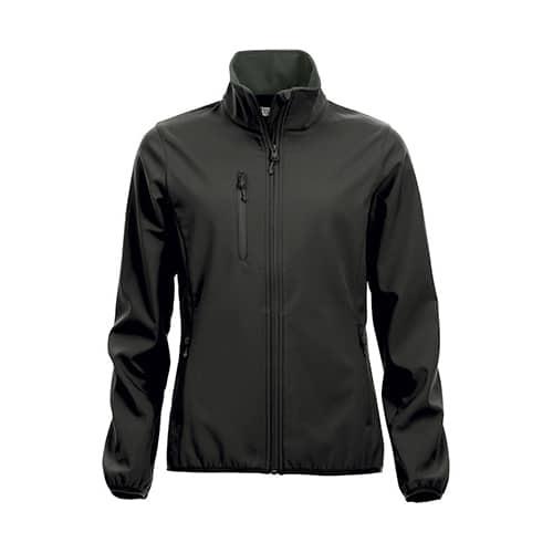 Clique Basic Dames Softshell jas - zwart