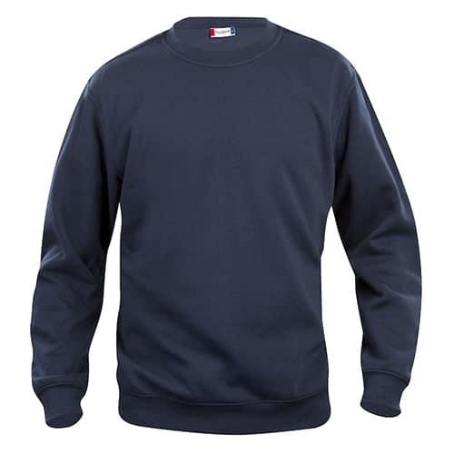 Clique Basic Roundneck trui - donkerblauw