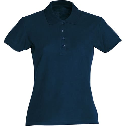 Clique Basic Dames polo - donkerblauw