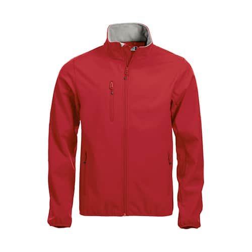 Clique Basic Softshell jas - rood