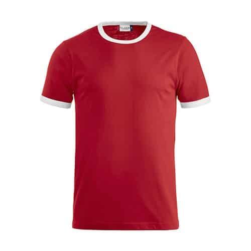 Clique Nome T-Shirt - rood/wit