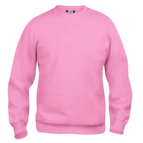 Clique Basic Roundneck trui - helder roze