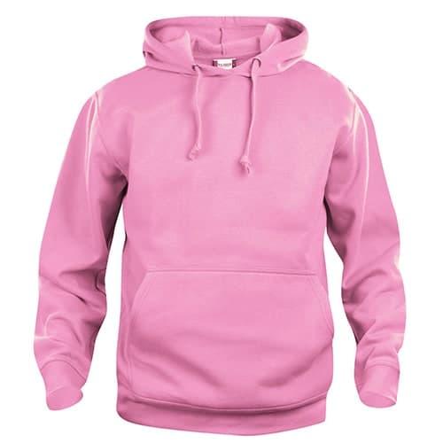 Clique Basic Hoody trui - helder roze