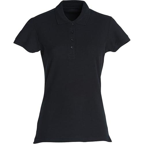 Clique Basic Dames polo - zwart