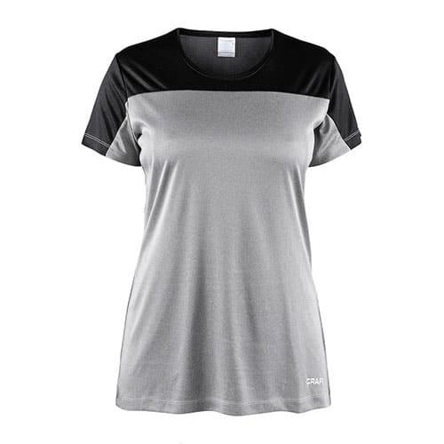 Craft_Sport_Shirt_Dames_Grijs_Zwart