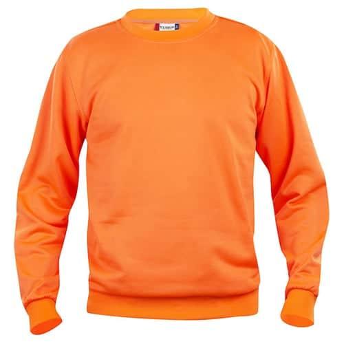 Clique Basic Roundneck trui - oranje