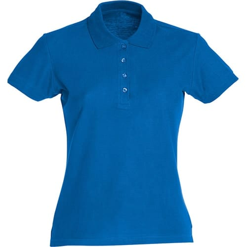 Clique Basic Dames polo - blauw
