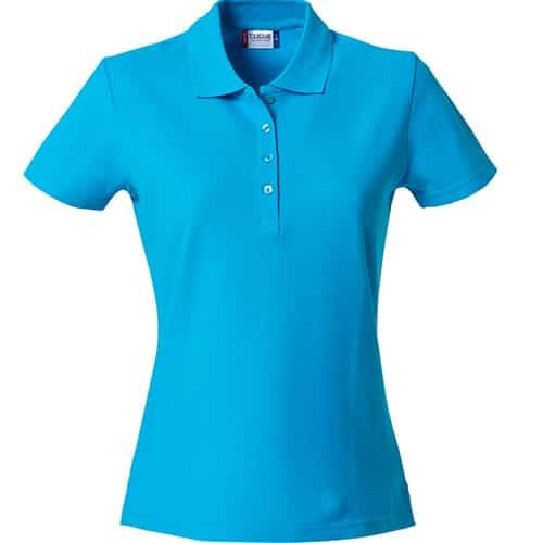 Clique Basic Dames polo - lichtblauw