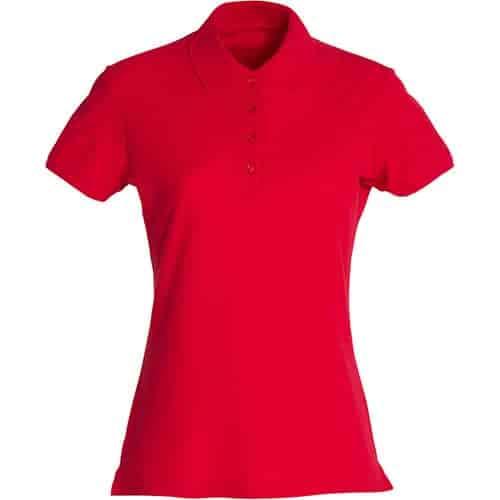 Clique Basic Dames polo - rood
