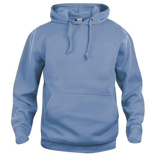 Clique Basic Hoody trui - lichtblauw