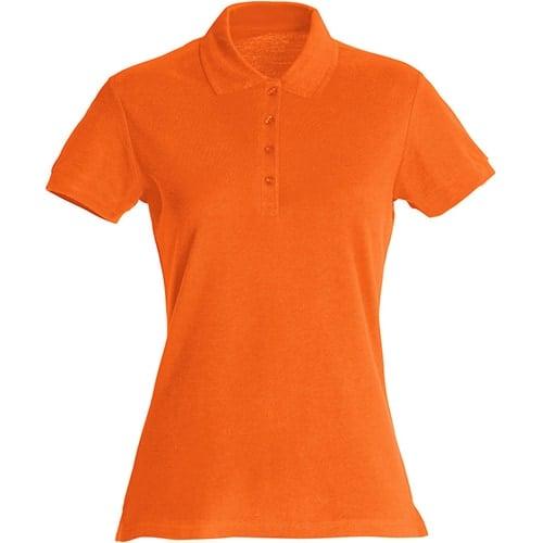 Clique Basic Dames polo - oranje