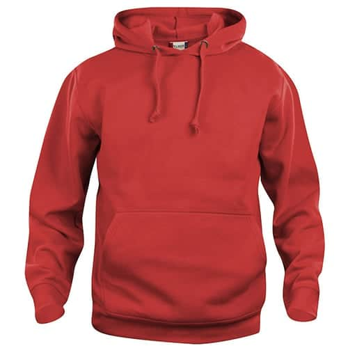Clique Basic Hoody trui - rood