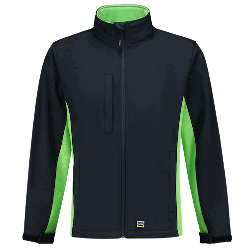 Tricorp Bicolor Softshell jas - donkerblauw/groen