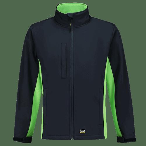 Tricorp Bicolor Softshell jas - donkerblauw/groen