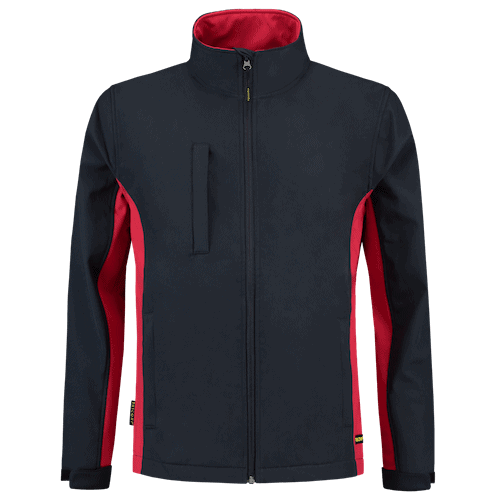 Tricorp Bicolor Softshell jas - donkerblauw/rood