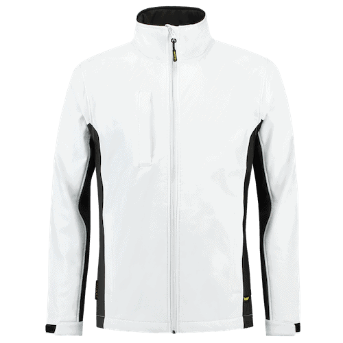Tricorp Bicolor Softshell jas - wit/grijs