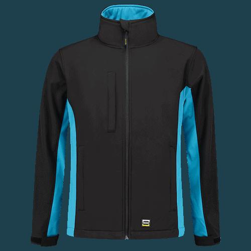 Tricorp Bicolor Softshell jas - zwart/lichtblauw