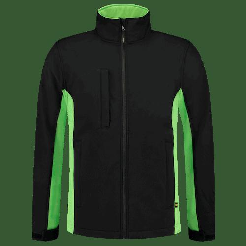 Tricorp Bicolor Softshell jas - zwart/groen