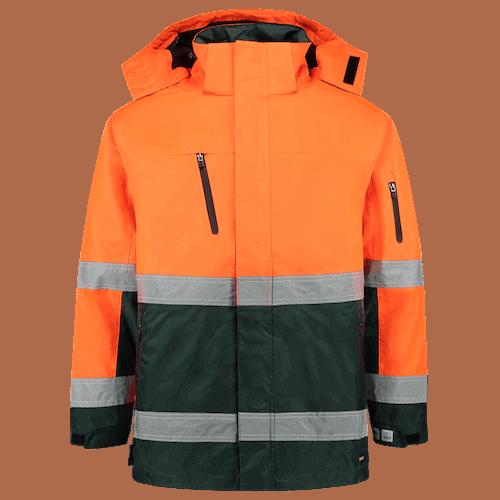Tricorp ISO20471 Bicolor parka jas - oranje/groen