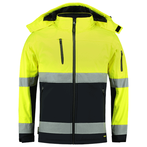 Tricorp ISO20471 Bicolor softshell jas - geel/blauw