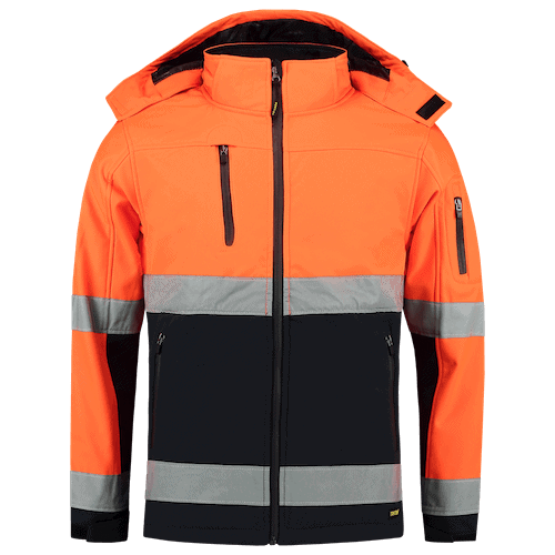 Tricorp ISO20471 Bicolor softshell jas - oranje/blauw