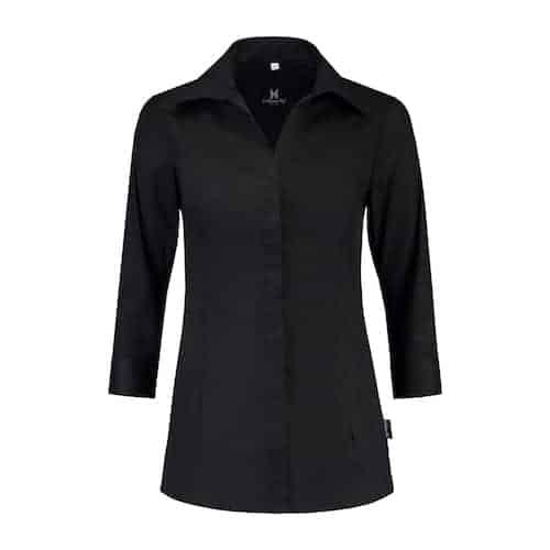 Le Nouveau Chef Nikki horeca blouse - zwart