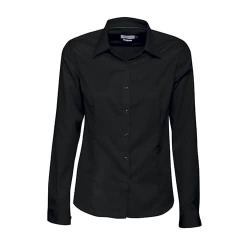 J. Harvest & Frost Green Bow dames blouse - zwart