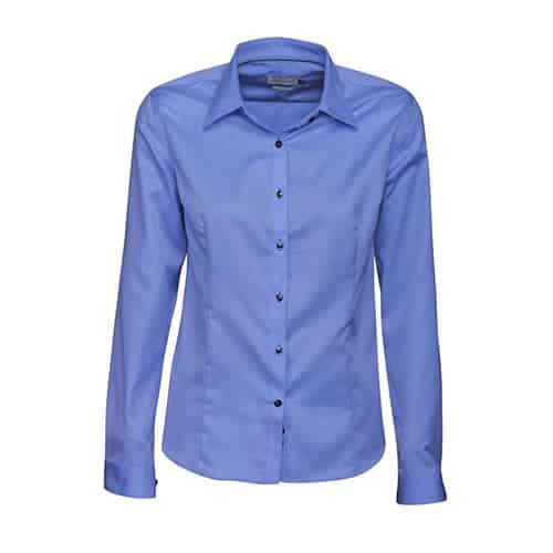 J. Harvest & Frost Green Bow dames blouse - blauw
