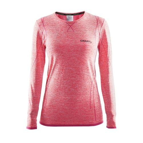 Craft Active Comfort RN LS Dames thermoshirt - roze