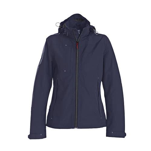 Printer Flat Track dames jas - donkerblauw