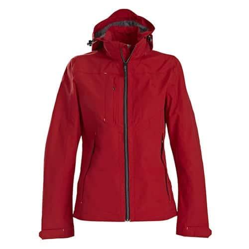 Printer Flat Track dames jas - rood
