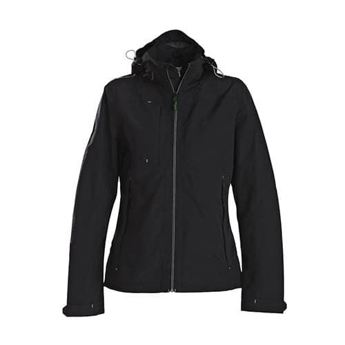 Printer Flat Track dames jas - zwart