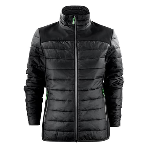 Printer Expedition gewatteerde dames jas - zwart