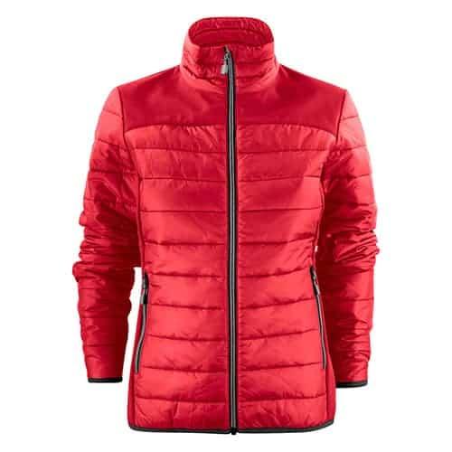 Printer Expedition gewatteerde dames jas - rood