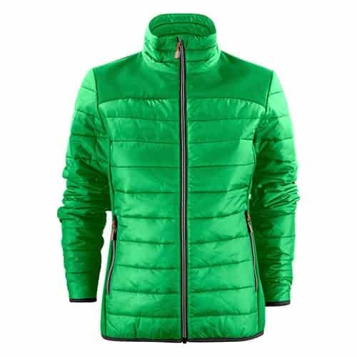 Printer Expedition gewatteerde dames jas - groen