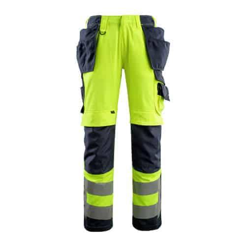 Mascot Wigan hoge zichtbaarheid broek - geel
