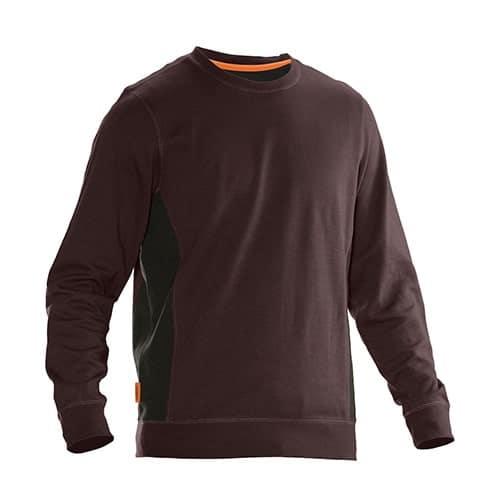 Jobman 65540220 sweater trui - bruin