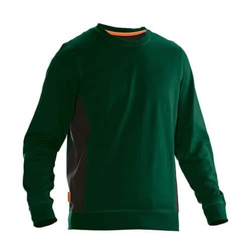 Jobman 65540220 sweater trui - donkergroen