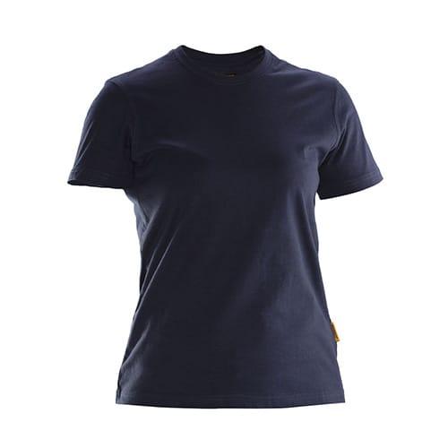 Jobman 65526510 dames T-shirt - donkerblauw