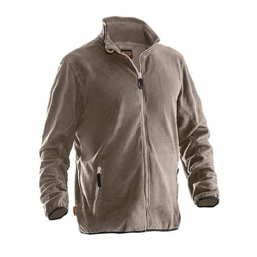 Jobman 65590154 fleece jas - lichtbruin