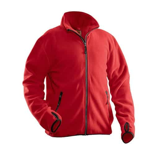 Jobman 65550175 fleece jas - rood