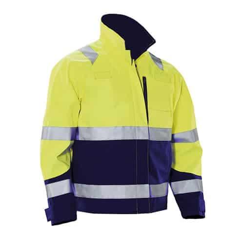 Jobman 65125162 werkjas - geel/blauw