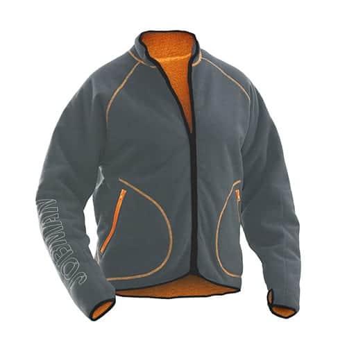 Jobman 65519274 fleece vest - grijs