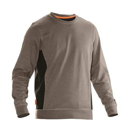 Jobman 65540220 sweater trui - lichtbruin