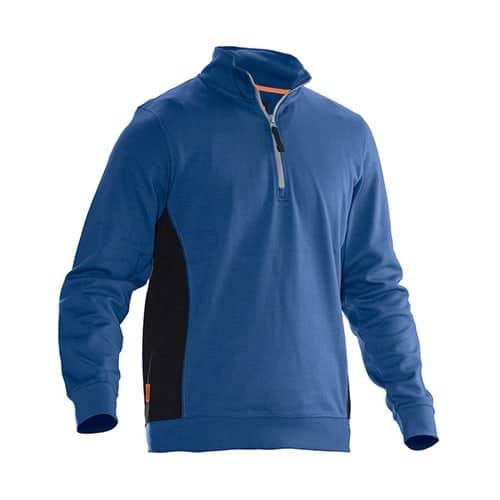 Jobman 65540120 trui met rits - blauw