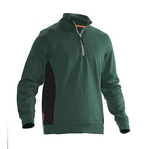 Jobman 65540120 trui met rits - groen