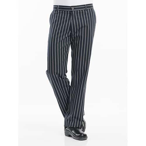 Chaud Devant Big Stripe koksbroek - blauw/wit