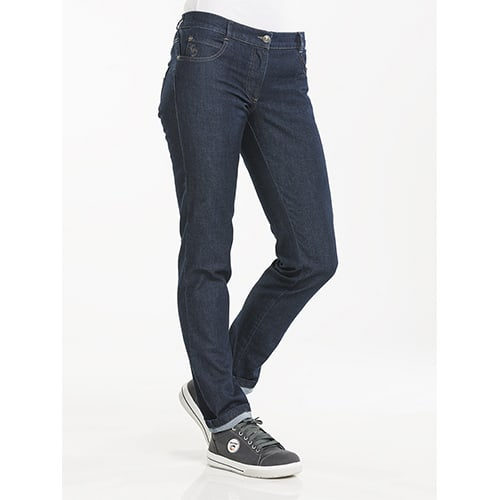 Chaud Devant Dames Skinny Stretch koksbroek - donkerblauw